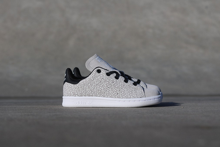 Stan smith Glow/Speckle Grey PS (3)
